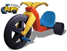 I went through about 10 of these during my childhood. Best thing ever. Drove them even when the plastic front tire had a flat spot from spinning out so that the sound it made as I was driving was thTHUMPthTHUMPthTHUMP...ah, the memories!