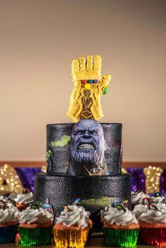 10th Birthday Parties, 8th Birthday, Birthday Cake, Thanos Avengers, Avenger Cake, Avengers Birthday, Man Party, Just Cakes, Superhero Party