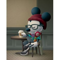 Cafe Hipster - New Hipster Mickey art coming to WonderGround Gallery Saturday, February I'll be there from - Come say hello and check out all the new art. Plus, the new Hipster Mickey Vinylmation will make its debut as well. Disney Mickey Mouse, Disney Cats, Downtown Disney, Walt Disney, Hipster Disney, Disney Store, Disney Princess Belle, Wallpaper Iphone Disney, Trendy Wallpaper
