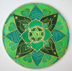 Verde arte de mandala del chakra don espiritual mandala del
