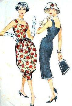 1950s Eveming Cockail Dress Pattern ~ McCalls 4586