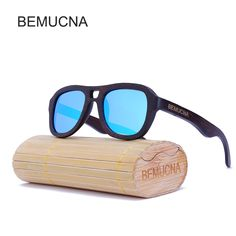 6bd00c5e8f 2017 New BEMUCNA Polarized Wood Sunglasses Men Brand Designer Fashion  Protect Sun Glasses With Accessories Box gafas de sol - Nice Trend Store