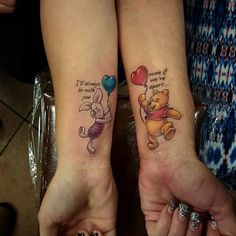 Home - Tattoo Spirit - Disney Tattoos 038 Josh Palmer # Body art - Sibling Tattoos, Bff Tattoos, Best Friend Tattoos, Trendy Tattoos, Cute Tattoos, Body Art Tattoos, Tattoos For Women, Sleeve Tattoos, Tattoo Art