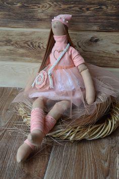 Купить Куколка Нектаринка в стиле Тильда - кремовый, тильда, кукла Тильда, персиковый, тильда принцесса