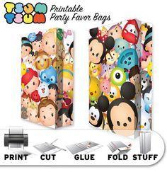 TSUM Tsum tema Favor de fiesta para imprimir bolsas por OhWowDesign