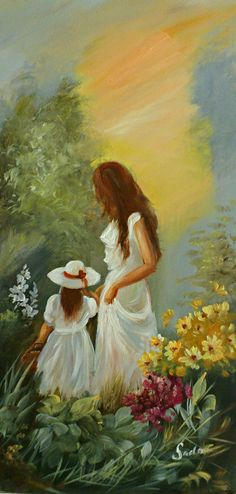 Széchenyi Varga Szidónia: η αγάπη της Μητέρας - Your Tutorial and Ideas Mother Daughter Art, Renoir Paintings, Painting People, Fine Art, Beautiful Paintings, Painting Inspiration, Female Art, Art Pictures, Painting & Drawing