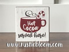 hot cocoa served here Christmas DIY 6x6 Block kit only $2.99