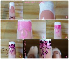 Orchid Nail: Comment faire un joli noeud ? Les Nails, Water Bottle, Nail Art, Making A Bow, How To Make, Pretty, Water Bottles, Nail Art Designs, Nail Arts