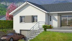 Plan de maison en L Oisans - plan maison gratuit Mountain Home Exterior, Home Budget, Front Yard Landscaping, Basement Remodeling, Architecture, Sweet Home, Shed, Construction, Outdoor Structures