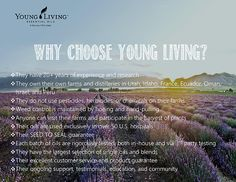 Why choose Young Living Essential Oils?