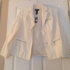 Lane Bryant jacket Jacket by Lane Bryant size 18, cream color, new with tags Lane Bryant Jackets & Coats