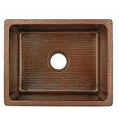 Hand-Hammered Copper Undermount Single Basin Sink  $638.00 (not farmhouse style)