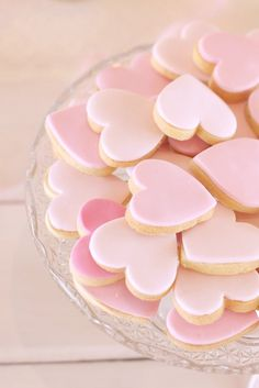 pink heart shaped cookies #girly #pink <3<3 For guide + advice on lifestyle, visit http://www.thatdiary.com/