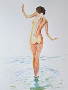 original nude art nude back erotic art naked lady standing