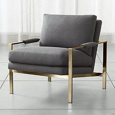 Milo Chair with Brushed Brass Base