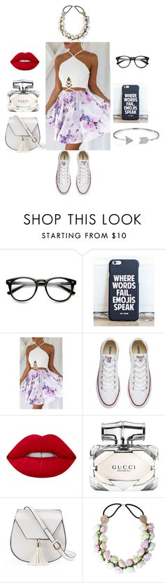 """""""Random"""" by koalabeer12 on Polyvore featuring mode, Converse, Lime Crime, Gucci, Yoki en Bling Jewelry"""