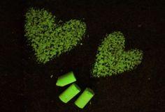 Make your own glow in the dark chalk