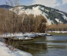 Donald Demers Along the Saco  9x12
