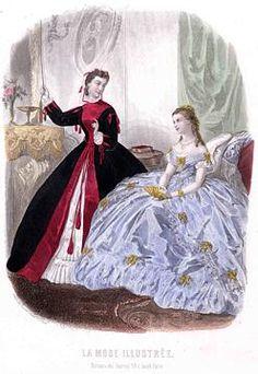 1865 velvet front closure wrapper in bordeaux
