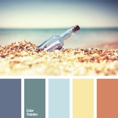 The combination of blue shades of sea water with honey and orange-brown. The color solution is suitable for a study, a living room or a bathroom. It can al.