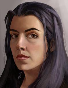 Self portrait, Maria Jasińska on ArtStation at https://www.artstation.com/artwork/e9Wbb
