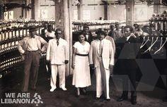 Count de Martel visiting the Arida textile factories in Busas, year 1933