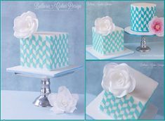 cube cakes by Bellaria Cakes Design