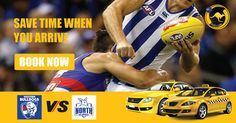 Save time with GoGo Cabs when you arrive for AFL Western Bulldogs v North Melbourne, Round 14. #Taxi #Cab #AFL