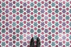 World Pattern Vinyl Flooring & Lino Flooring Tile Effect Vinyl Flooring, Rubber Flooring, Floor Patterns, Star Patterns, Islamic Tiles, Porch Flooring, Geometry Pattern, Patterned Vinyl, Style Tile