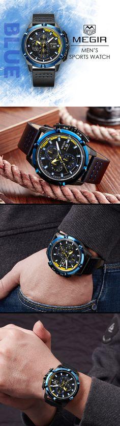 Men's Sport luxury watches - the Megir ML20 military sport timepiece chronograph - men's top brand design style affordable fashion accessories #menswatch #watches #menswatches #menswear