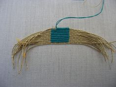 Goldwork embroidery Or Nue square