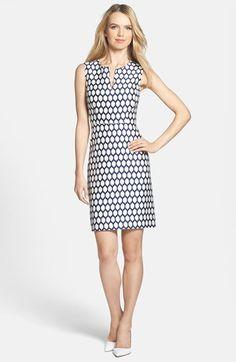 love this navy and white kate spade emrick sheath dress
