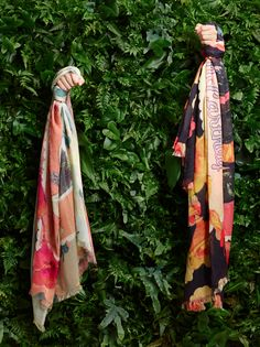 Stella McCartney Spring '15 printed scarves.