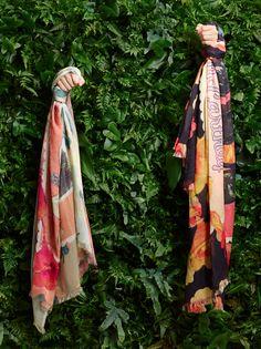 Stella McCartney Spring '15 printed scarves.