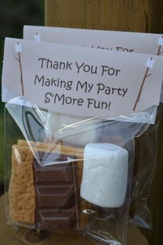 S'mores Camping Party Favors   Camping Party Ideas   Pretty My Party