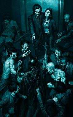 El Caballero Oscuro contra Joker por Jung-geun Yoon