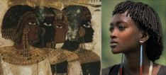 Ancient Egyptians and a modern African youth