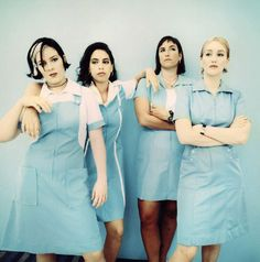 Luscious Jackson--   I used to have a Dickie's dress in this exact color and everything!!