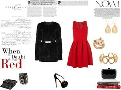 """WHEN IN DOUBT WEAR RED"" by andreia-goja-de-carvalho on Polyvore"