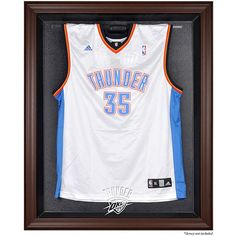 Oklahoma City Thunder Fanatics Authentic Brown Framed Logo Jersey Display  Case 5813751e5