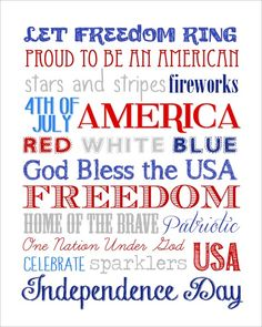 Happy Fourth of July everyone! I hope everyone has a wonderful and safe holiday! Here's a printable for you to enjoy… Just right click on the file above and save it to your desktop (or click here to download). Open and print on normal, letter-sized paper. Trim along the solid line and frame in an 8 x …