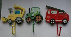 Childrens Kids Bedroom Hooks Fire Engine Digger Tractor Boys Door in Home, Furniture & DIY, Storage Solutions, Wall Hooks & Door Hangers