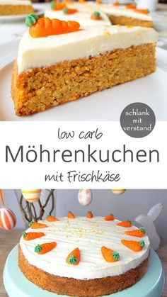 low carb Möhrenkuchen Carrot cake low carb A recipe from the category sweet and baking. For healthy weight loss as part of a low carb / lchf / keto diet. Healthy Low Carb Recipes, Low Carb Desserts, Healthy Weight, Keto Recipes, Diabetic Meals, Carrot Recipes, Keto Foods, Keto Meal, Keto Snacks