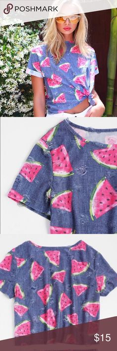 🆕Watermelon top 🍉🆕 Cute, comfy and stylish!! Bottoms also available in my closet!! Bundle for discount 👍🏼😊 Tops