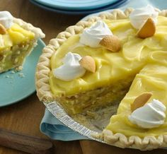 Banana pudding in a pie shell—a perfect marriage of favorite desserts!