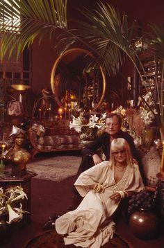 Barbara Hulanicki and husband Stephen Fitz-Simon in the Biba store, 1975.