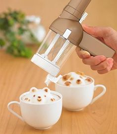 New TAKARA TOMY 3D Latte Coffee Art Maker Awatachino Brown Japan Cafe Break      #TakaraTomyArts