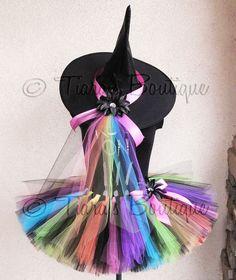 Colorful witch tutu