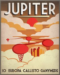 Solar System Travel Posters  illustrations by Luke Minner and Naomi Wilson