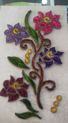 . Beaded Embroidery, Embroidery Stitches, Hand Embroidery, Embroidery Designs, Contemporary Art Forms, Arte Linear, Diy And Crafts, Arts And Crafts, String Art Patterns
